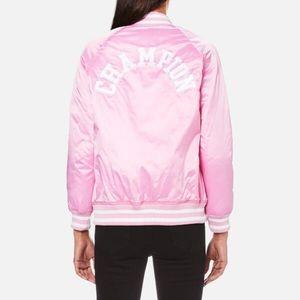 d573dc8fa ISO Pink Satin Champion Bomber Jacket